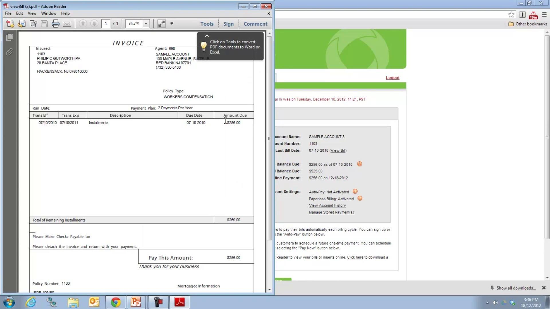 electronic bill payment presentment ebpp creditron